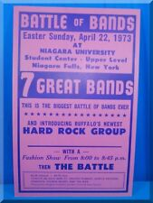 1973 APRIL 22 EASTER SUNDAY NIAGARA UNIVERSITY BATTLE OF THE BANDS POSTER 22x14
