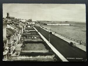 Cornwall PENZANCE Promenade showing BATHING POOL c1950s RP Postcard by M&L