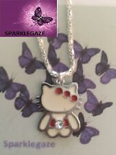 BRAND NEW HELLO KITTY WITH RHINESTONE PENDANTS SP NECKLACE GIFT CHRISTMAS 54