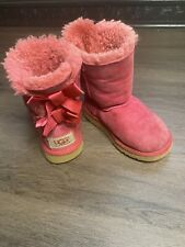 Toddler Girls UGG Boots Australia Bailey Bow II Pink  Winter Boots sz 9