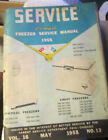 Vintage Sears SERVICE May 1955  vol 16 Freezer repair manual,80 page photo