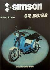 Schöner Simson Prospekt SR 50 80 Roller Stadtroller 3,7 bzw. 5,6 PS DDR STIL1986