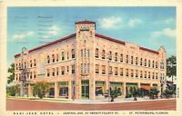 St. Petersburg Florida~The Mari-Jean Hotel~Frontal View From Central Ave~1941