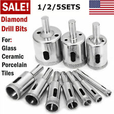 Diamond Drill Bits Kit For Glass Ceramic Tile Hole Maker Saw Cutter 10x/Set Lot