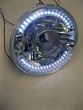 "Street Rod 7"" Projector Glass Headlights w/ Clear LED Turn Signals H4 Bulb PAIR"
