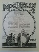 1918 Michelin 12 Tire test number to Fitness vintage original vehicle tires ad