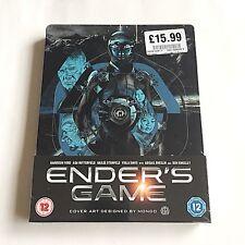 Ender's Game Blu-ray Steelbook [UK] OOS/OOP Mondo Art Hard To Find! MINT!