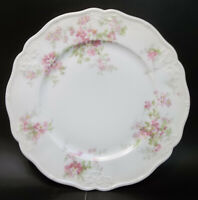 Antique CA Limoges Depose France Porcelain Pink Flowers Daisy Luncheon Plate