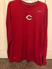 Cincinnati Reds Nike Logo Performance T-Shirt – Red