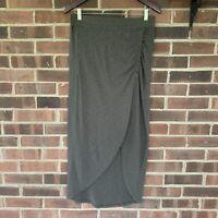 NWT Sunina ruched front slit maxi skirt Women's Size Medium