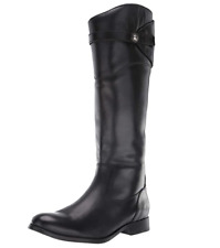Frye Molly Knee High Boot 3476111 Black Leather Tall Riding Boot Sz 8M, EUC