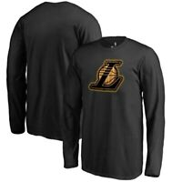 Los Angeles Lakers Fanatics Branded Youth Hardwood Long Sleeve T-Shirt - Black