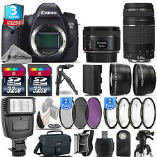 Canon EOS 6D DSLR Camera + 50mm 1.8 STM + 75-300 III + 3yr Warranty - 64GB Kit