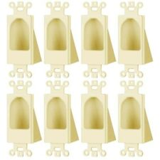 8 Pcs Recessed Low Voltage Decora Wall Plate HDMI AV Power Cable Feed Through
