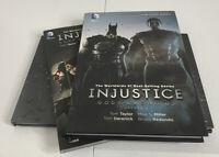 DC Comics Graphic Novels Lot Injustice Vol 1 SC & 2 HC Arkham Origins Artwork HC