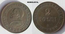 VATICANO año 1866 R. PIO IX BONITA Moneda de 2 SOLDI Cobre. 10 Céntimos. 33 mm.