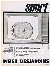 PUBLICITE ADVERTISING 114 1962 RIBET DESJARDINS téléviseur
