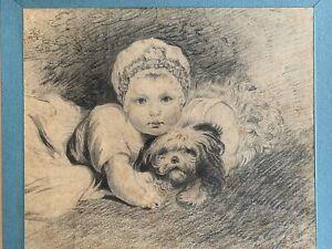 Joshua Reynolds pencil drawing Princess Sophia Matilda of Gloucester c1774