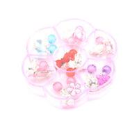 7Pairs/Box Lovely Earrings Clip-On No Pierced Pendant Design For Children Kids Z