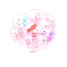 7Pair/Box Lovely Earrings Clip-On No Pierced Pendant Design For Children Kids TE