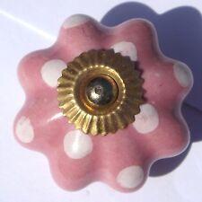 FIORI ROSA CON bianco pallini (OTTONE) ceramica cromato cassetto