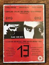 13 Tzameti DVD 2005 Francés Rusia Ruleta Culto Película de Cine con / Aurelio