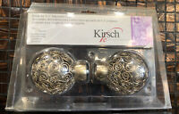 """1 Pair Brass Finials For 1 1/8"""" Ajustable Rod Kirsch Brand"""