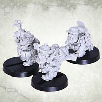 Dvergr Commando Medic Team Squat Space Dwarf Zwerge Kromlech Resin KRM099