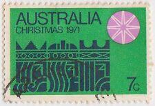 (DA894) 1971 AU 7c pink star on green (B)