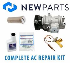 Fits Honda Accord EX V6 3L Complete A/C Repair Kit New Compressor with Clutch