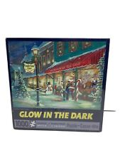 Bits & Pieces CANDY CANE LANE 1000 Piece Jigsaw Puzzle Glow in Dark SEALED fr/sh
