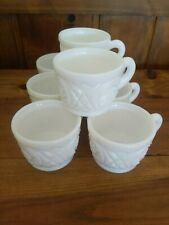 Set 8 Vintage Milk Glass Punch Cups Coffee Dessert Entertaining