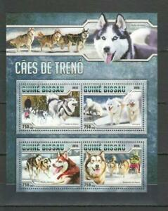 [G] GUINEA-BISSAU 2016 DOGS, DOMESTIC PETS, SERVICE DOGS,  SHEET OF 4 STAMPS.