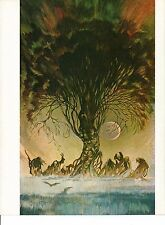 "1978 Full Color Plate ""Autumn People"" by Frank Frazetta Fantastic GGA"