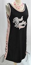 NWT Steve & Barrys Pink Lady athletic knit top dress in black pink SZ XXL FIT L