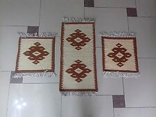 NEW HANDCRAFTED ARTISAN KILIM CARPET RUG-11 MODELS SET-TABLE RUNNER-LONG+SQUARE