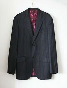 ETRO Milano Men's 100% Wool Silk Striped Jacket Size 50/M