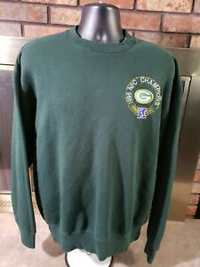 Vintage Green Bay Packers 1996 NFC Champions Embroidered Crewneck Sweater XL