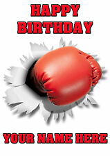 Boxing Glove Rip Birthday Card PIDOA23  Personalised Card Dad mum son any name