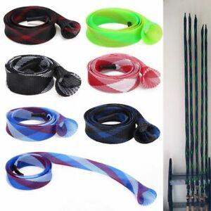 Bag Elastic Pole Sleeve Expanable Braided Mesh Fishing Rod Cover Jacket Wrap