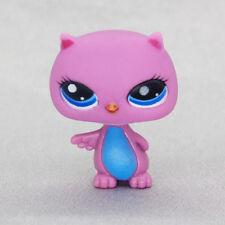 *Littlest Pet Shop* Hasbro LPS Small Purple Puppy Toys Black Blue Eyes Kids Toys