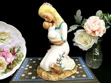 Goebel Mother and Child Figurine roses fine porcelain German doll painted