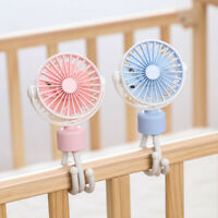 KQ_ Octopus Portable USB Charging Mini Cooling Fan Clip on Crib Stroller Air Coo