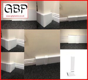 Plain UPVC Skirting Board Covers, Corners & Joints *Various Sizes*