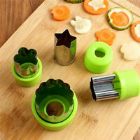9pcs Stainless Steel Fruit Vegetable Cutter Shapes Set Mini Cookie Slicer Mold