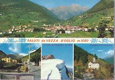 VEZZA D'OGLIO - SALUTI - 4 VEDUTE - V 1972 - FG