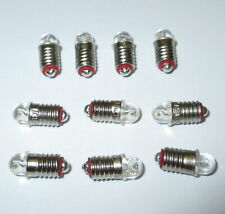 LED Spare Bulbs (Märklin 600100/600200) E5.5 16-24V - 10 Piece New