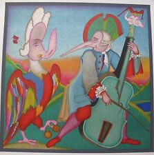 MIHAIL CHEMIAKIN CARNIVAL MUSICIAN ST PETERSBURG Large Unsigned Lithograph Art