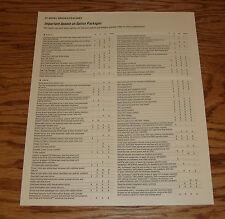 Original 2007 Toyota Sienna Option Packages Update Sales Brochure 07 LE XLE