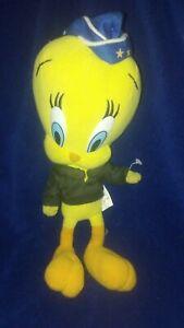2001 10in Nanco Looney Tunes Air Force Tweety Bird Plush Stuffed Animal